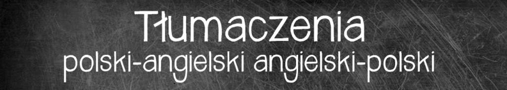 Tłumaczenie z polskiego na angielski