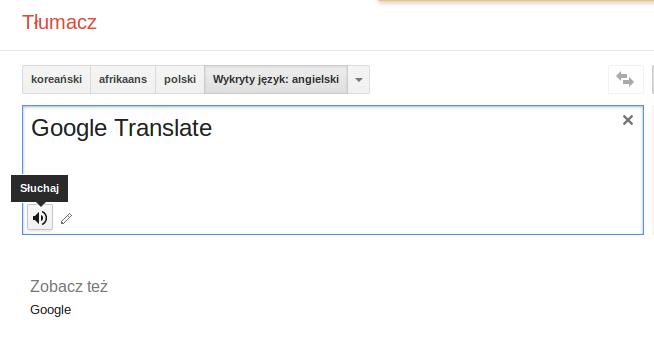 Tłumacz polsko angielski Google Translate